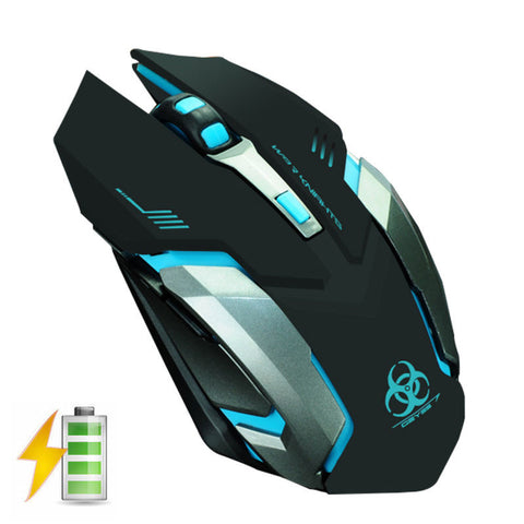 Wireless Rechargeable 6 Buttons LED Backlit  Mouse