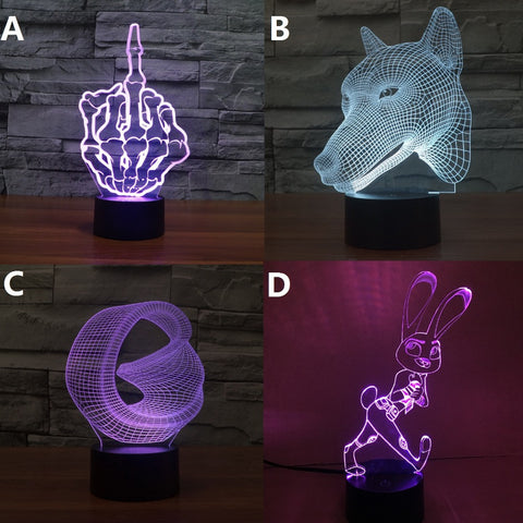 3D Visual Led Night Lights