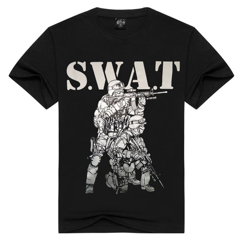 S.W.A.T # 2 -  Man T-Shirt Short Sleeve O Neck Cotton