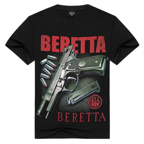 BERETTA-  Man T-Shirt Short Sleeve O Neck Cotton