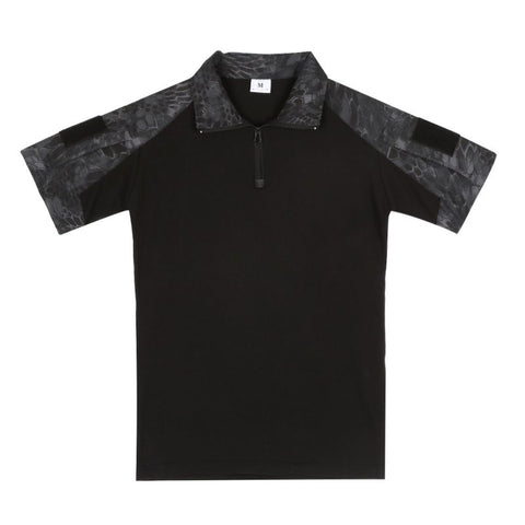 Tactical Short Sleeve Polo Shirt  (6 colors) - Indigo-Temple