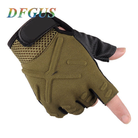 Half Finger Army Gloves