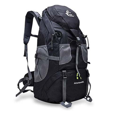 50L Outdoor Backpack - Indigo-Temple