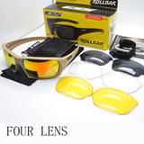 Four Lens Polarized Tactical Ballistic Sunglasses