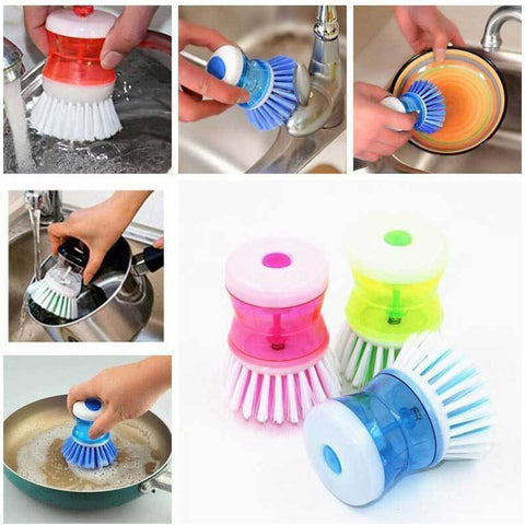 Dishpansoap(TM)  Dish & Pot Brush (2pcs) - Indigo-Temple
