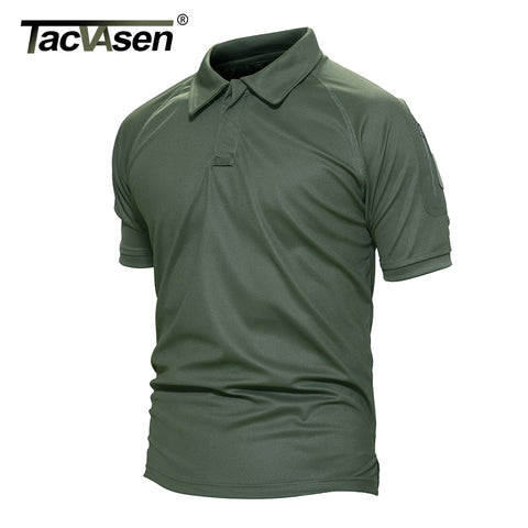 TACVASEN  Sleeve Pocket Tactical Polo