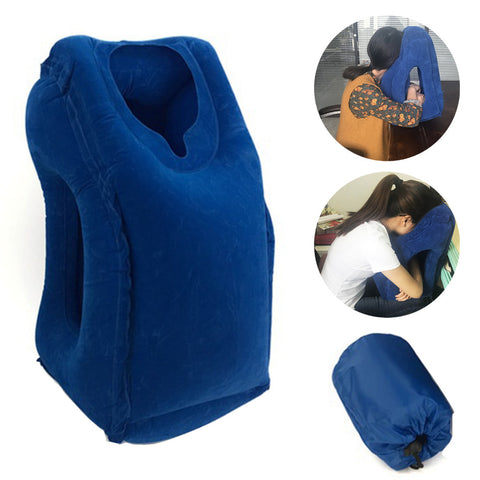 4-Mode Inflatable Travel Pillow - Indigo-Temple