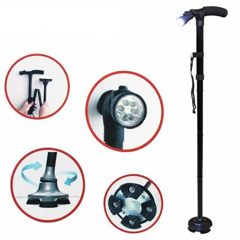 Magic Cane™ Foldable Walking Stick With LED Light