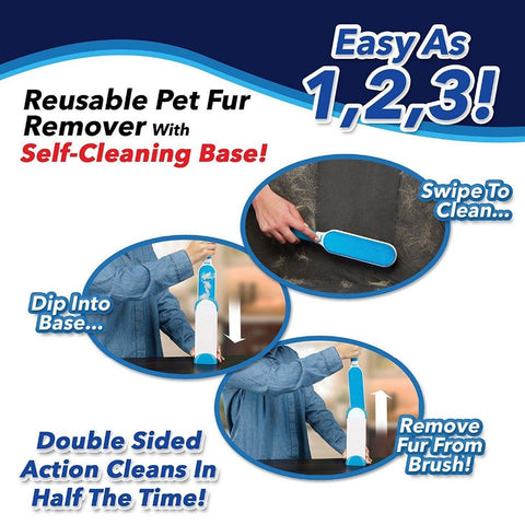 Self-Cleaning Fur & Lint Remover Magic Brush - Indigo-Temple