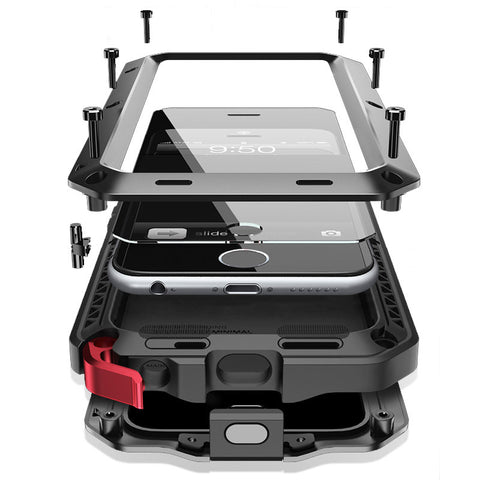 Shockproof Waterproof Aluminum Case + Gorilla Glass