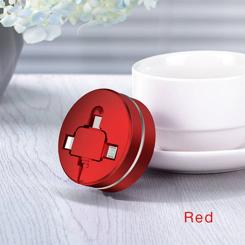 "3-in-1 Retractable USB ""Cookie"" Multi-Charger"