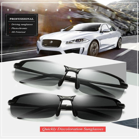 Semi-Rimless Photochromic (Auto-Tinting) Sunglasses