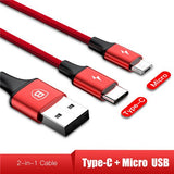3-IN-1 3A Super Fast Charge Cable (USB+TypeC+iPhone)