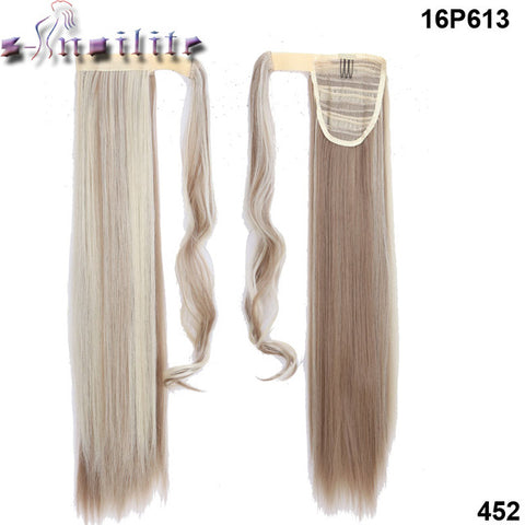 "S-noilite™ Straight/Wavy 23"" Ponytail Extension - Indigo-Temple"