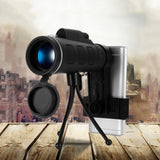 40X60 HD BAK4 MONOCULAR WITH A PHONE TRIPOD - Indigo-Temple
