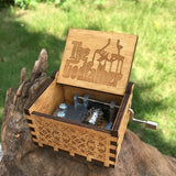 Hand-Carved Themed Music Box Collection - Indigo-Temple