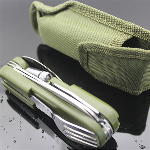 Folding Outdoor Multi-Tool with LED