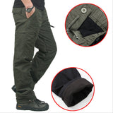 Double Layer Military Flannel Lined Cargo Pants