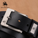 NO.ONEPAUL™ Men's Classic Genuine Leather Belt - Indigo-Temple