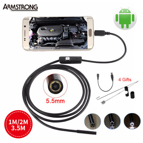Snake Tube Waterproof Camera For Android