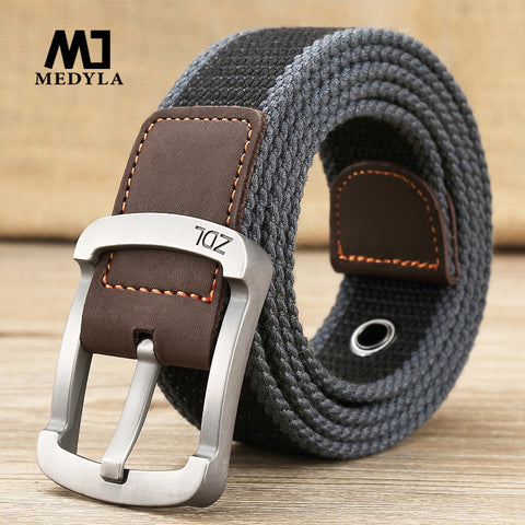 MEDYLA™ Casual Military-Style Unisex Canvas Belt - Indigo-Temple