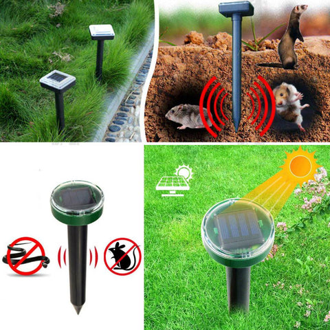Solar-Powered Ultrasonic Garden Pest Repellent