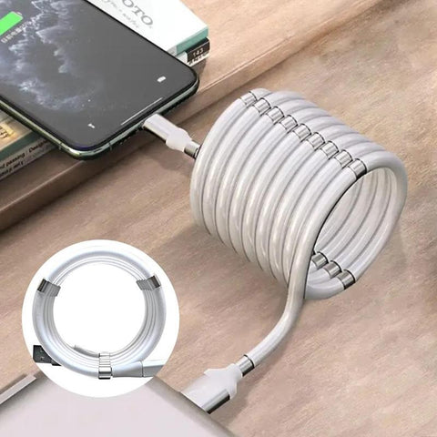 Magnetic Self Winding Charging Cable