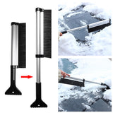 2 In 1 Extendable Telescoping Snow Brush & Ice Scraper - Indigo-Temple