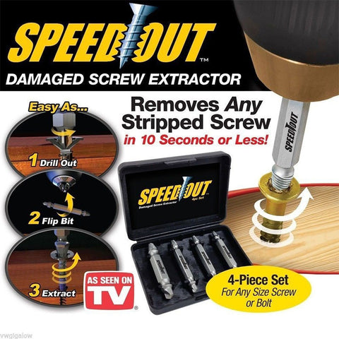 SPEEDOUT - Broken Screw\Bolt Remover