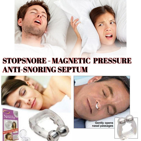 STOPSNORE -Magnetic Pressure Anti-snoring Septum (2 pcs set) - Indigo-Temple