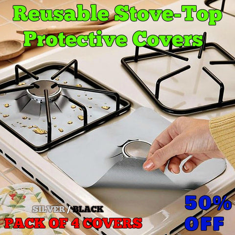 StoveShields - Reusable Stovetop Protective Covers (4PCS/LOT) - Indigo-Temple