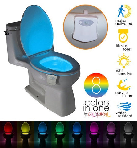 MOTION ACTIVATED TOILET NIGHT LIGHT - Indigo-Temple