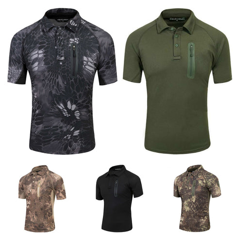 Zippered Chest Pocket Combat Shirt