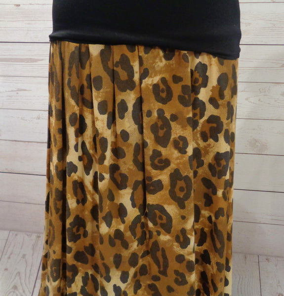 Animal Print Ruffle Hem Skirt