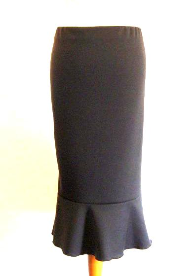 A Classic Black Skirt - Midi Length French Styling