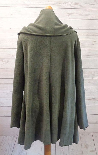 Luxury Designer Fleece Swing Coat/Jacket