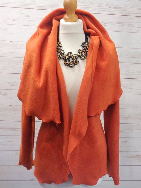 Luxury Fleece Shaped Wrap Jacket/Cardi