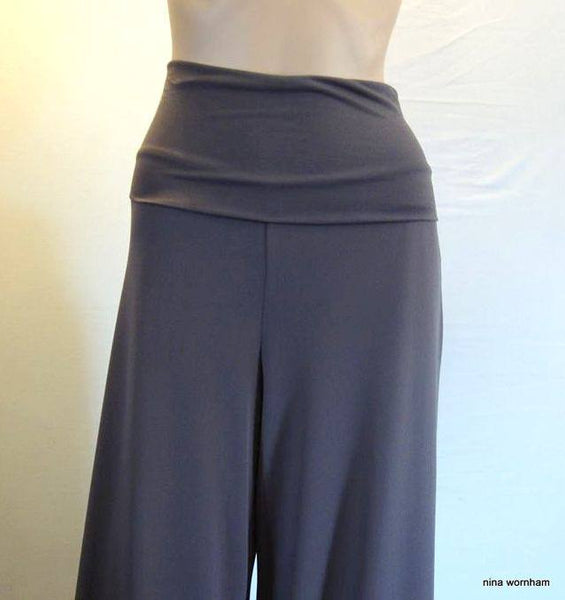 Deep Waist Stretch Jersey Trousers