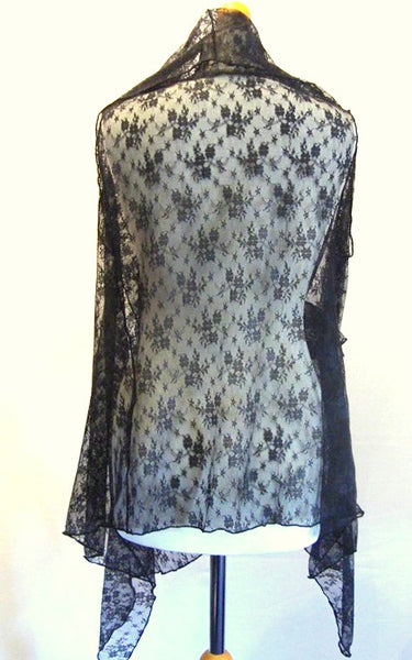 Lace Wrap Jacket Sleeveless and With Sleeves.