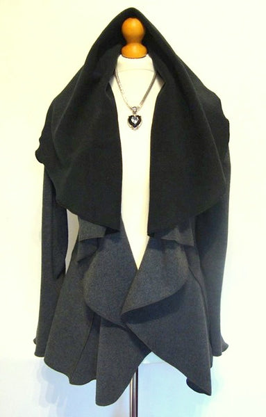 Tailored Luxury Designer Fleece Wrap Jacket