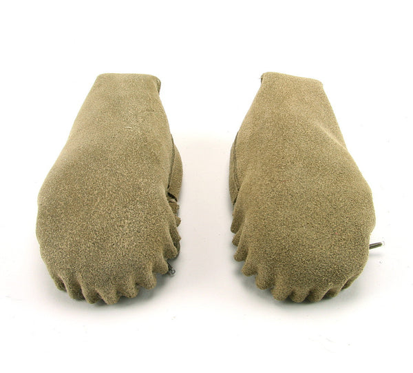 Beige Wool Lined Moccasins