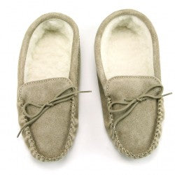 Adult lambswool lined mocassins