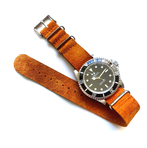 Suede Nato strap Light Brown Beige