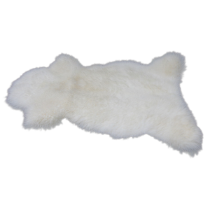 Natural Sheepskin Rug White