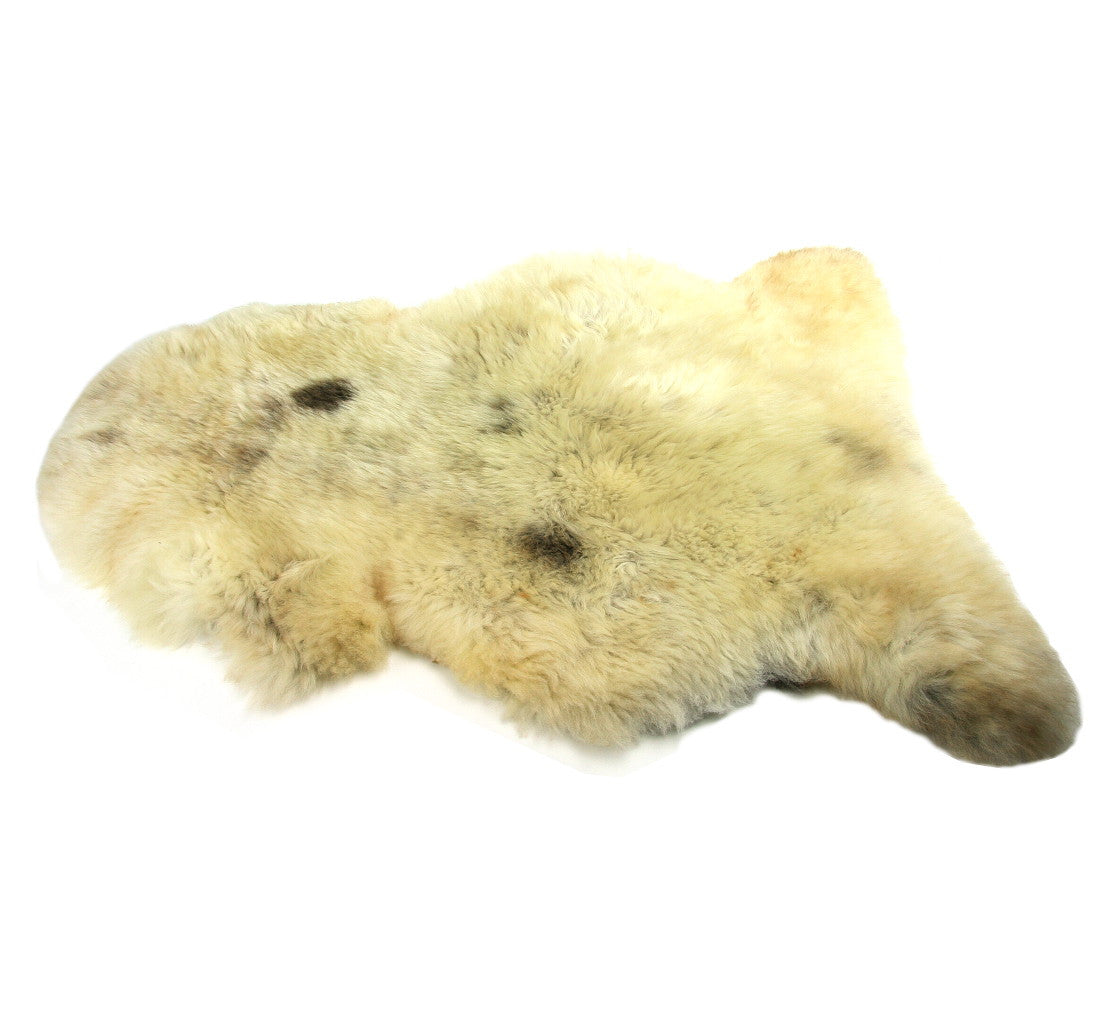 sheepskin rug rare breed blend of black grey u0026 white brown