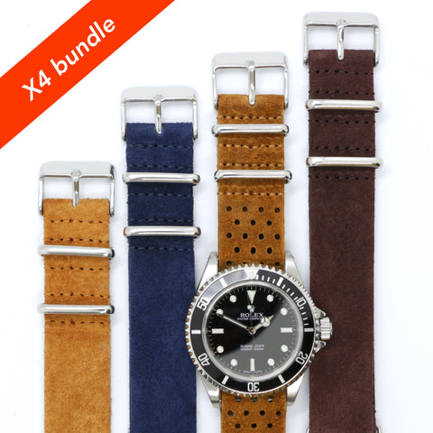 Nato strap suede x4 bundle special offer