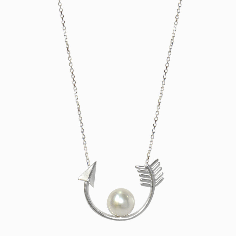 Arrow and Pearl Necklace