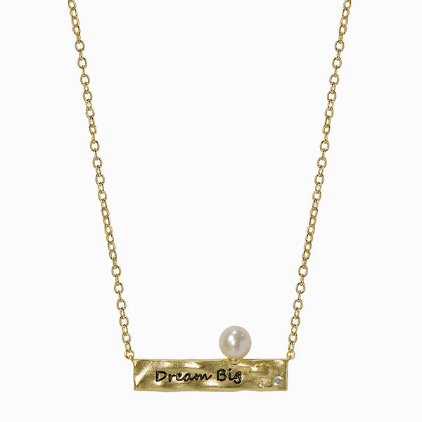 Golden Dream Big Pearl Necklace