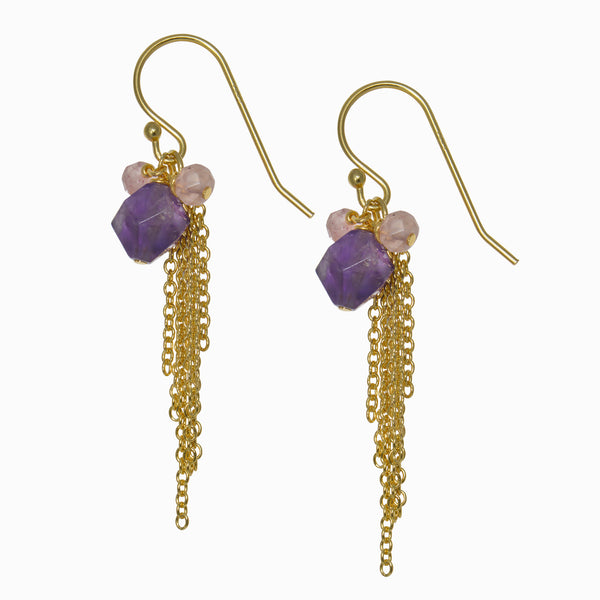 Elegance Amethyst Drop Earrings
