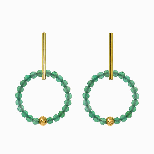 Aventurine Wreath Hoop Set